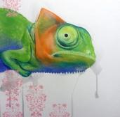 Chamaeleo-2016-Olio-on-Canvas-cm-100x100