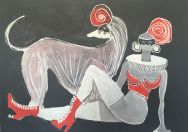 Il Levriero e la Padrona (Greyhound and Mistress) Private Collection