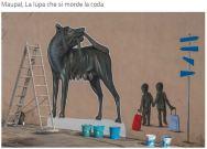 Graffiti La lupa che si morde la coda