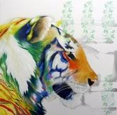 Panthera-Tigris-2016-Olio-on-Canvas-cm-100x100