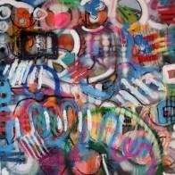 mixed media on canvas 100 x 100 cm 3