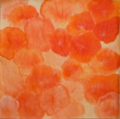 Coral orange_2016_100x100cm_Acrylic and colour pencil on paper_£2000