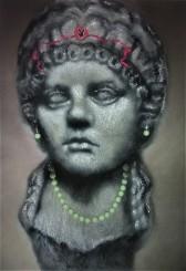 Poppea, 2017 Acrylic spray on steel wool, 70 x 120 x 8cm
