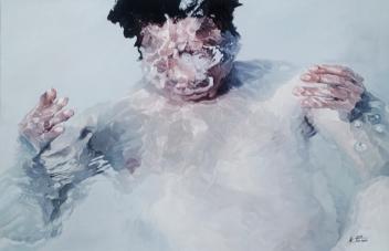 Kim, Jin Nam Sign4,Oil on Canvas,90,6X60,6cm 2016