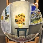 Koo, Sang Hee,Convex Memory-Hommage to Gogh,75X75cm,Acrylic on Acylic,2017
