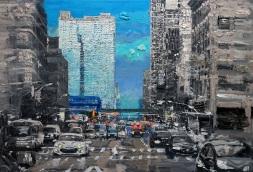 Lee, Ik Ryeol,City Landscape1, Acrylic & Mixed media on canvas 2017