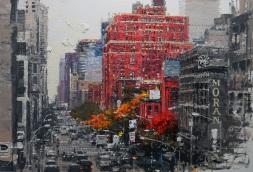 Lee, Ik Ryeol,City Landscape2, Acrylic & Mixed media on canvas 2017
