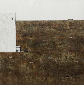 Sohn, Jin Hee,theway3, 97X97cm,Oil on wood 2017